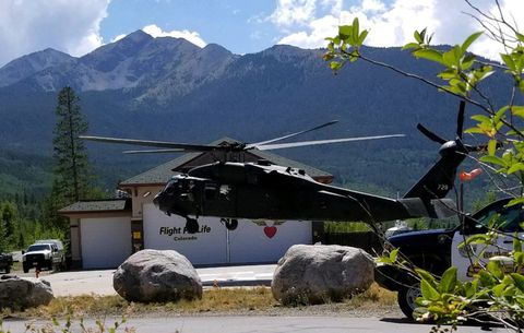Trail runner falls - Evacuated by Blackhawk Helicopter