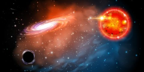 Outer space, Galaxy, Astronomical object, Space, Universe, Sky, Orange, Atmosphere, Astronomy, Nebula,