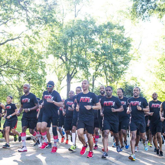 the black men run group in philadelphia on a run