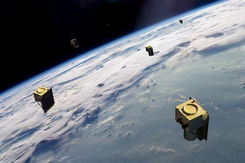 Constellation of small satellites