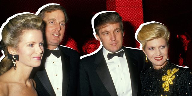 blaine, robert, donald and ivana trump in new york city in the 1980s