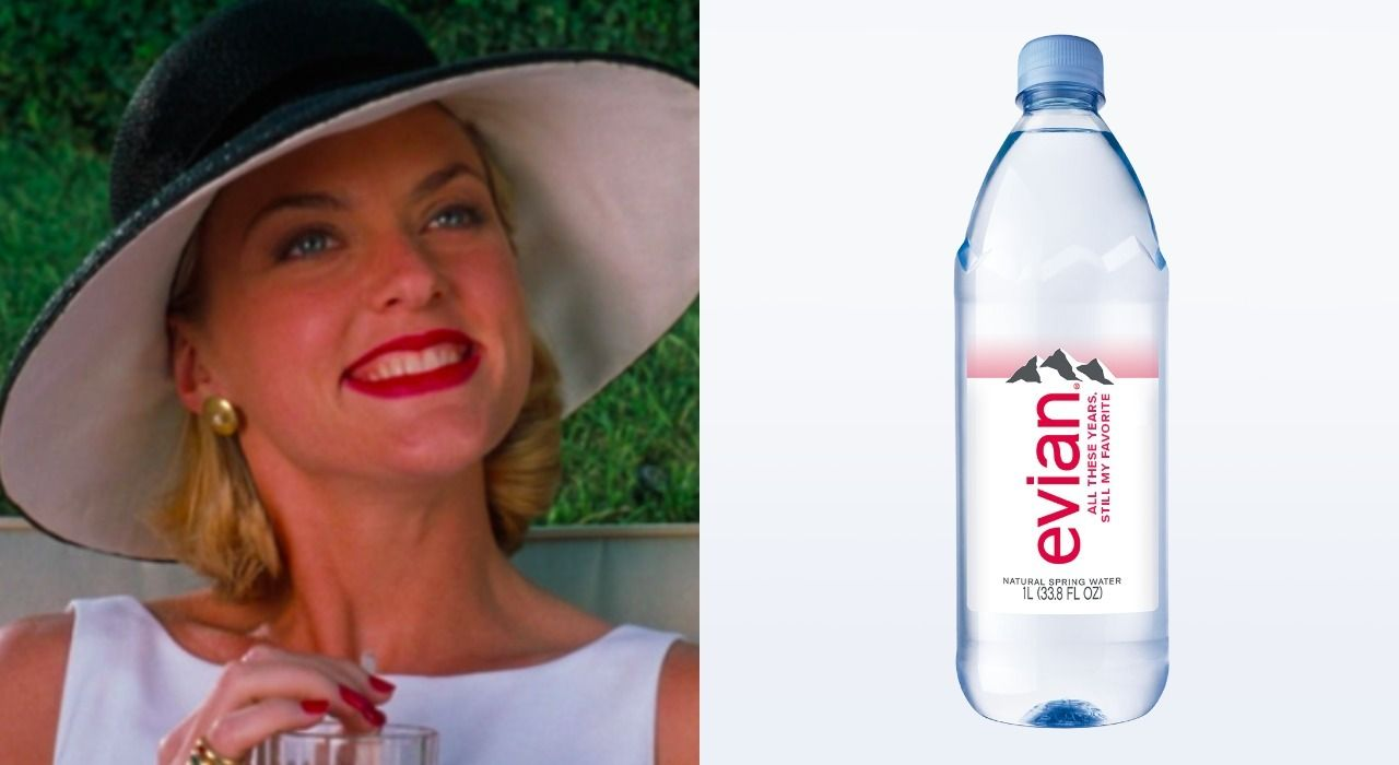 Evian And Elaine Hendrix From The Parent Trap Are Giving Out Water Bottles