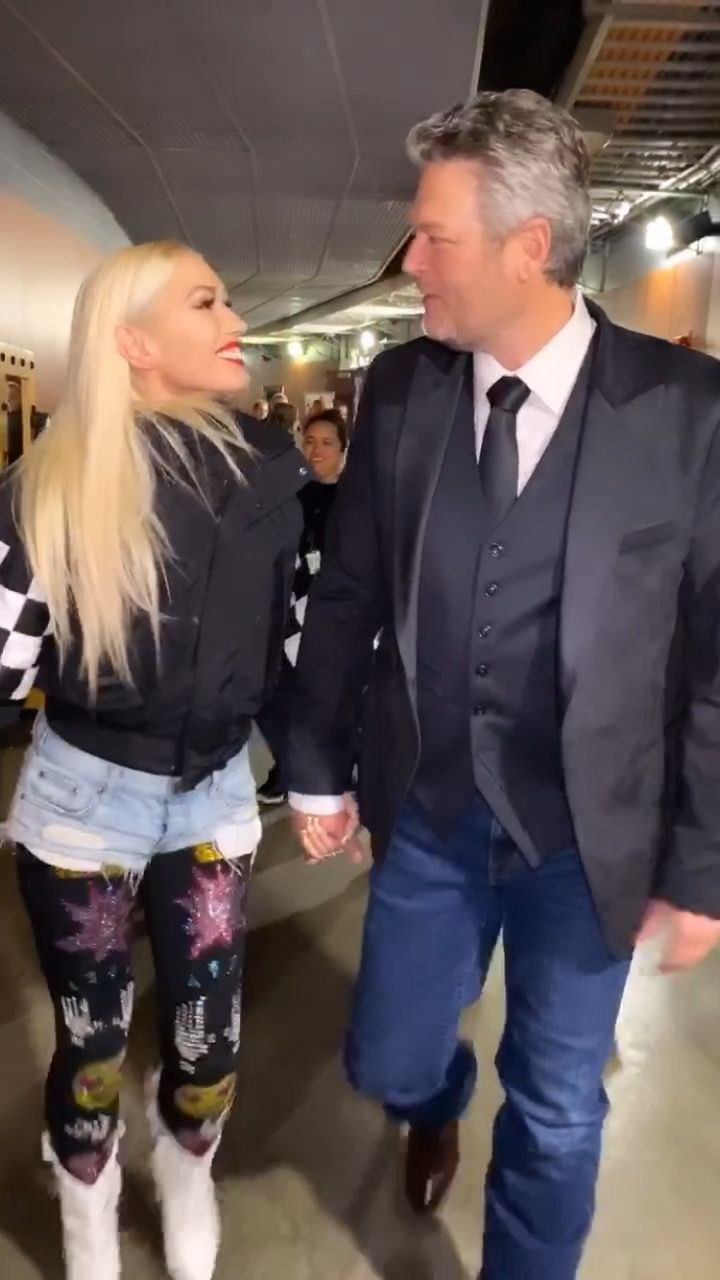 Blake Shelton Had the Sweetest Thing to Say About Gwen Stefani Backstage at the 2020 Grammys