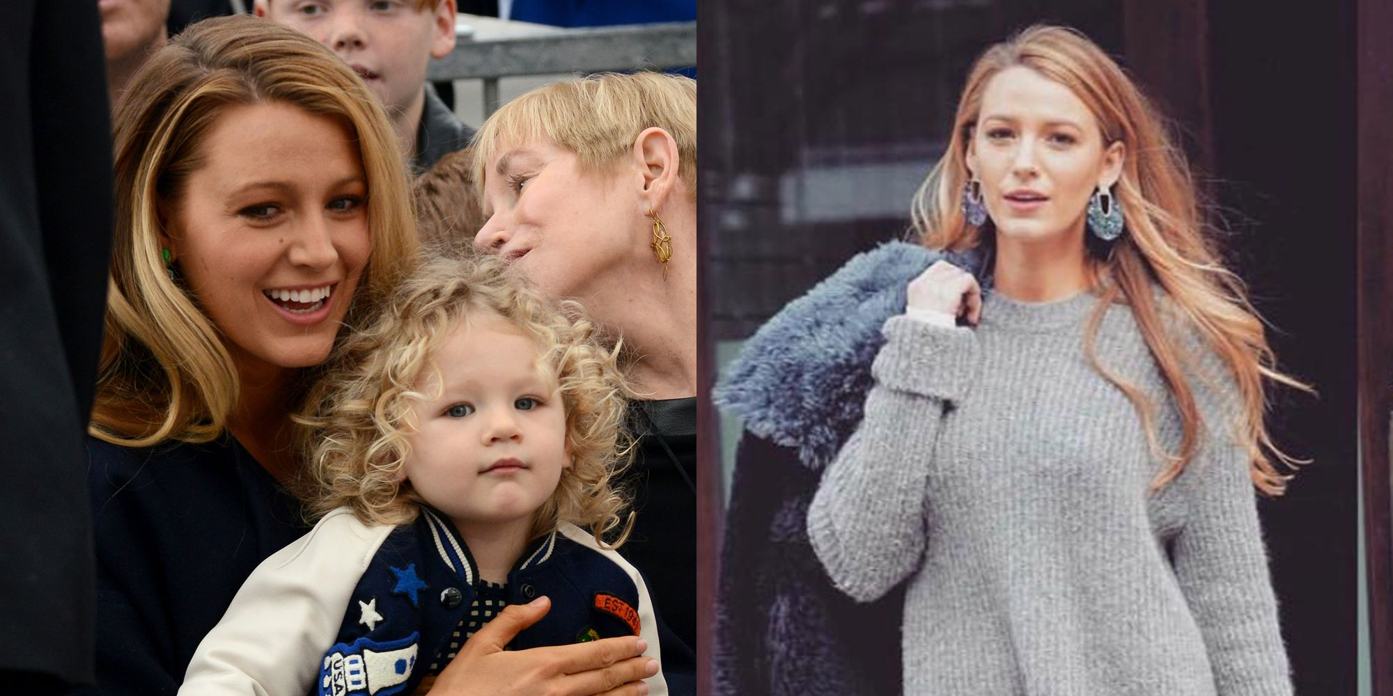 d96da7b58c5 Blake Lively s Daughter on Blake s No-Pants Sweater Outfit - James Reynolds  Reaction to Blake Valentine s Day Outfit