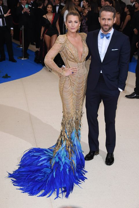 blake lively and ryan reynolds at the 2017 met gala