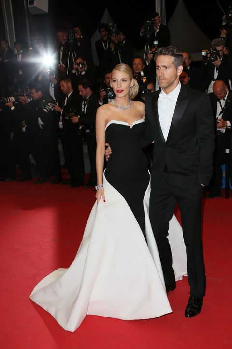blake lively and ryan reynold at the captive premiere in cannes