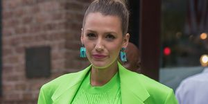 Blake Lively neon green suit