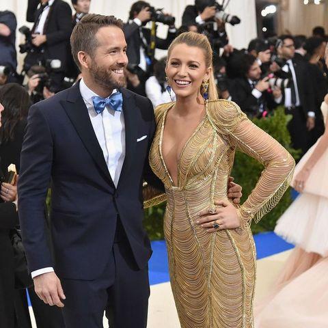 Blake Lively en Ryan Reynolds bij het Met Gala 2019