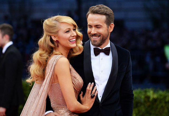 new york, ny   may 05 actors blake lively l and ryan reynolds attend the charles james beyond fashion costume institute gala at the metropolitan museum of art on may 5, 2014 in new york city  photo by mike coppolagetty images