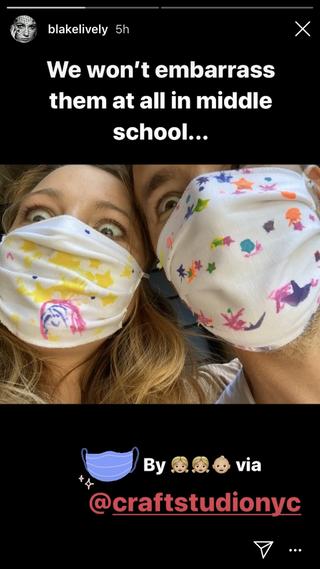 blake lively ryan reynolds face masks