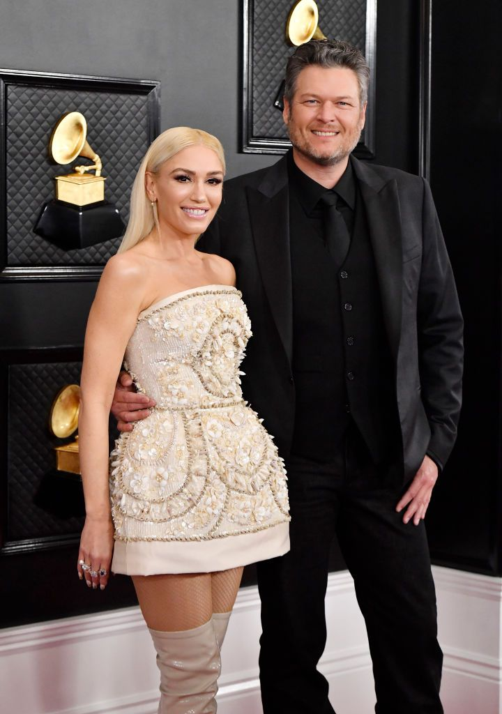 Blake Shelton and Gwen Stefani Looked Flawless on the 2020 Grammys Red Carpet