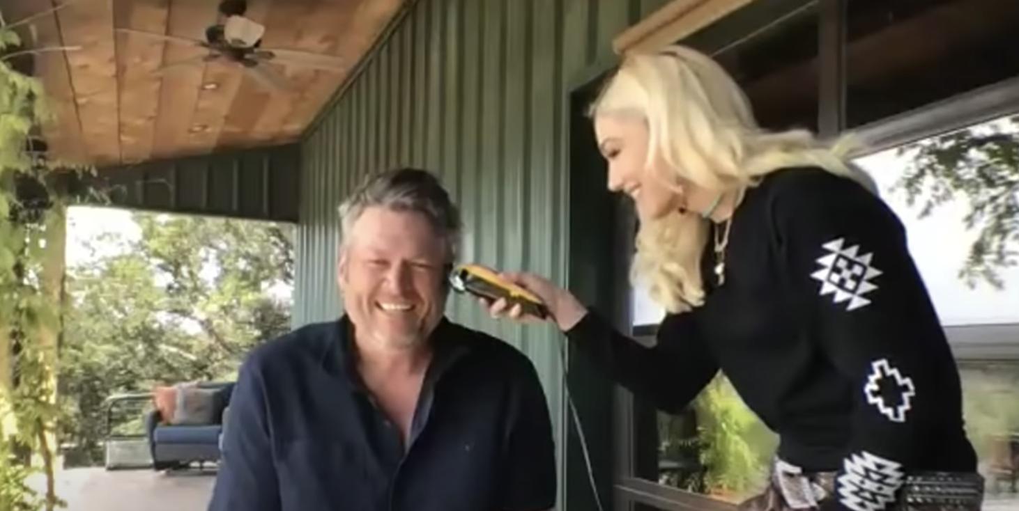 Gwen Stefani Cut Blake Shelton's Quarantine Mullet During Their Appearance on The Tonight Show