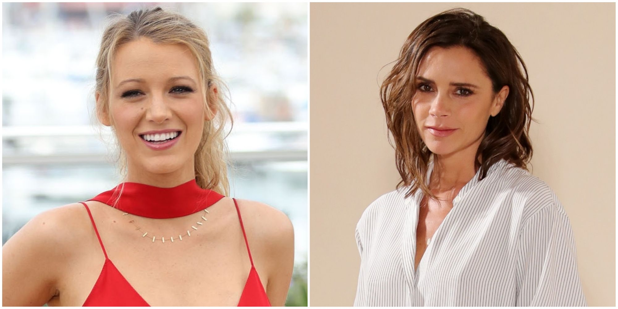 Blake Lively and Victoria Beckham