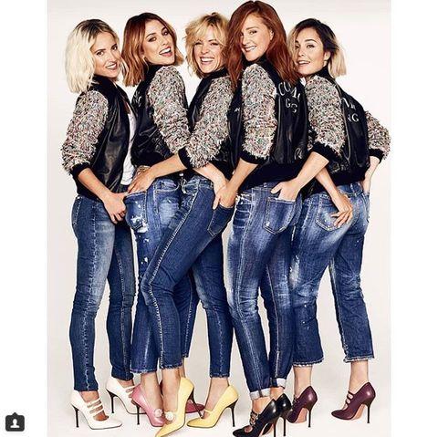 Jeans, Denim, Clothing, Fashion, Footwear, Photo shoot, Textile, Waist, Trousers, Friendship,