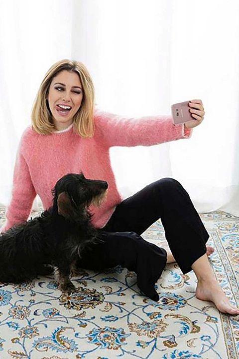 La actrizBlanca Suárez y su perro Pistacho