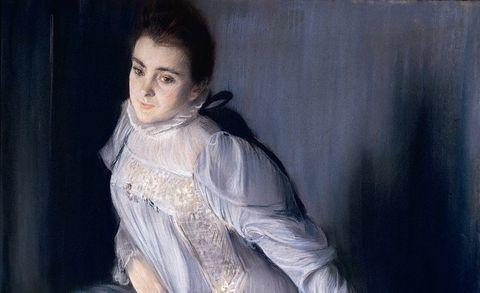 Jacques-Emile Blanche, Retrato de Eugenia Huici Arguedas de Errázuriz, 1890. Pastel sobre lienzo.