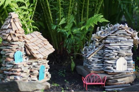 stone fairy cottages fairy gardens