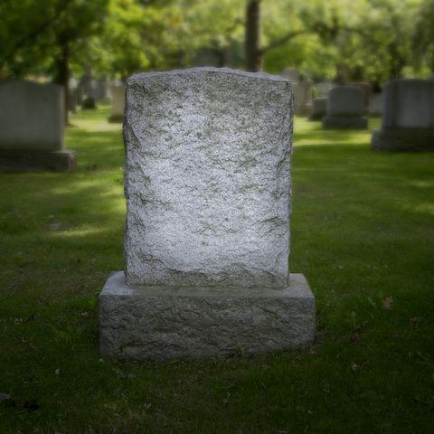 Blank Grave Stone Toronto Ontario