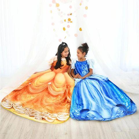 Orange, Dress, Gown, Formal wear, Peach, Figurine, Art,