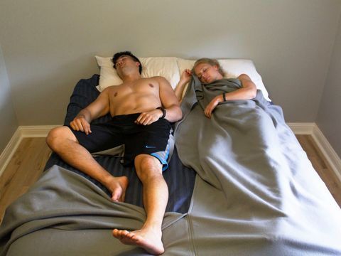 This Two-Person Blanket Allows You to Flip It Down Without Waking Your Partner