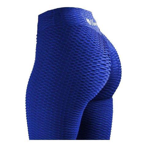 sportlegging – olamee – anti cellulite legging   absorberend   yoga – fitness – vrije tijd   scrunch butt   high waist   gym sports wear – elastisch – tweede huid – platte buik – a kwaliteit – rondere billen – smallere taille – blauw