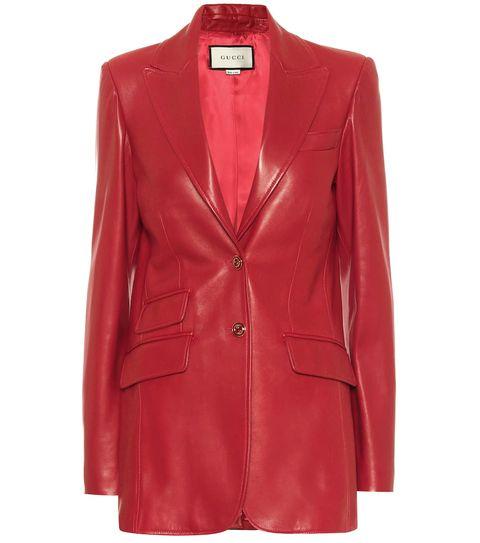 blazer pelle moda autunno 2020