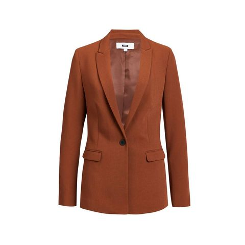 we regular fit blazer bruin