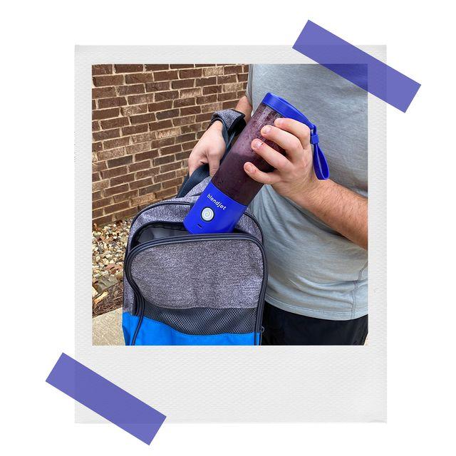 blendjet 2 portable blender in gym bag