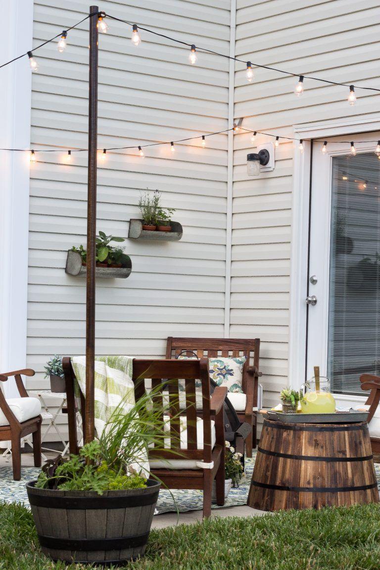 20 Backyard Lighting Ideas - How to Hang Outdoor String Lights on Backyard String Light Designs id=76552