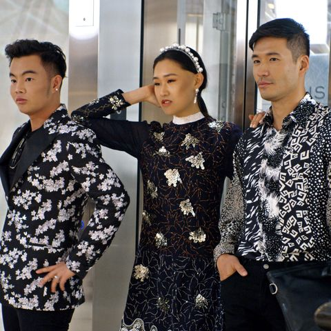 "l r kane lim, jaime xie and kevin kreider in episode 8 ""will you marry me"" of bling empire season 1 c courtesy of netflix © 2021"