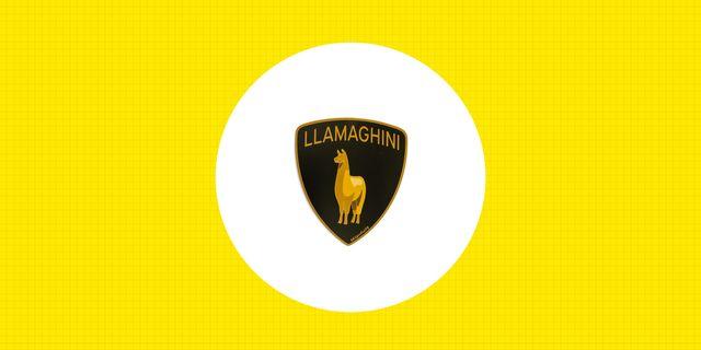 car stickers llamaghini blipshift