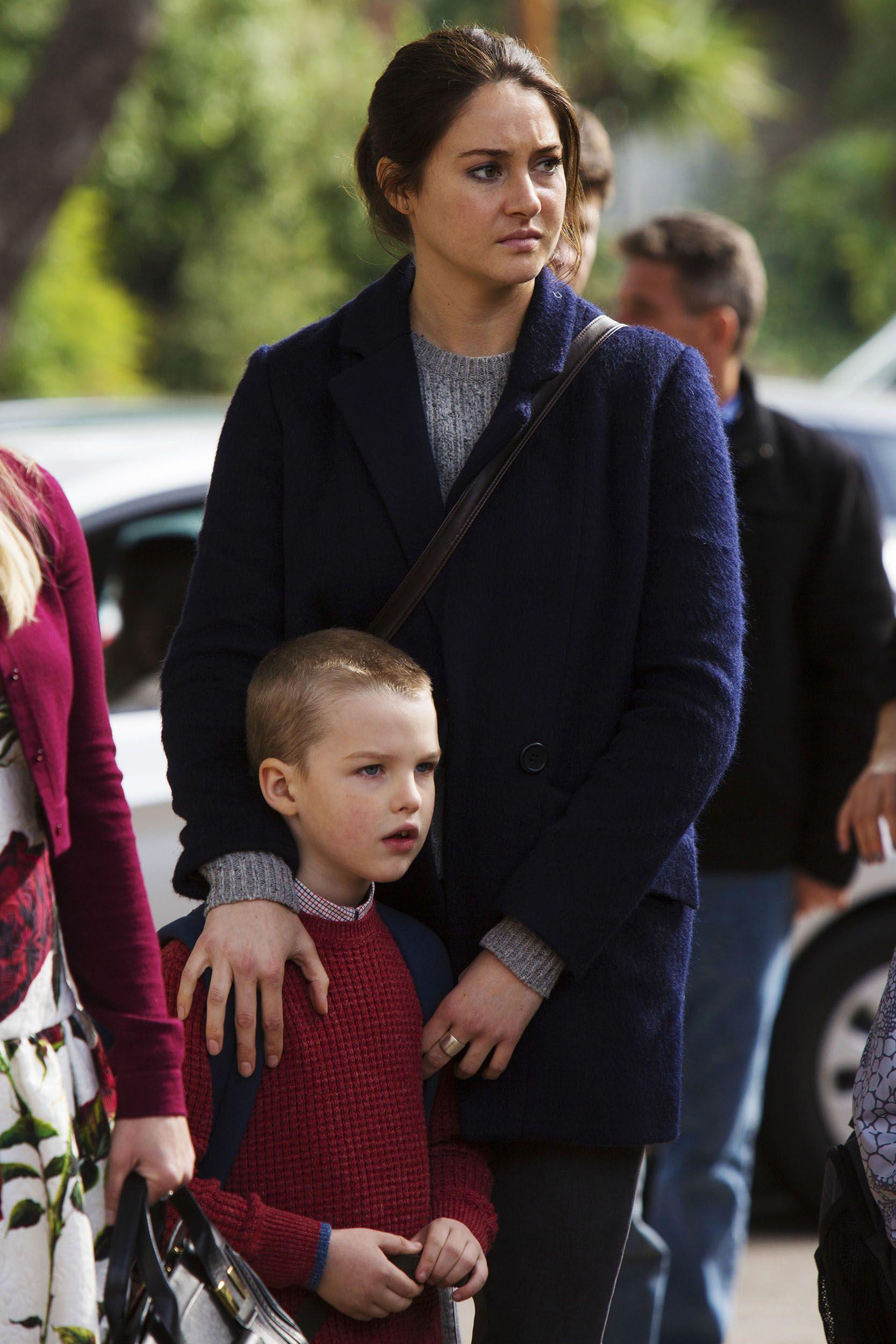 Shailene Woodley with Iain on the set of Big Little Lies.