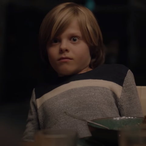 one of mary louise's grandsons reacts to her scream in big little lies
