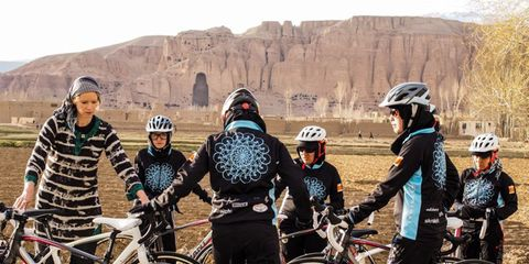 Afghan women's cycling team