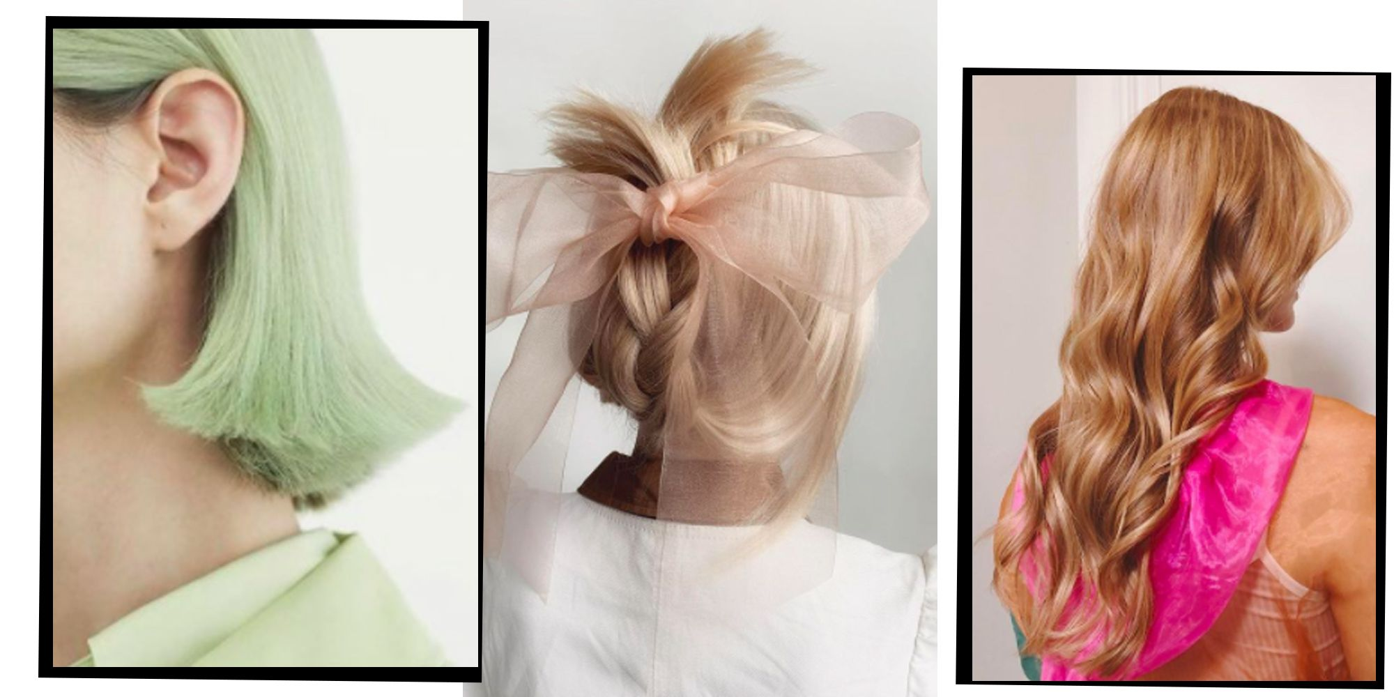 LONG FRINGED WIG RED BROWN BLACK WHITE BLUE BLONDE HOT PINK GREEN PACK OF 10