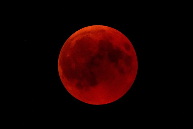 total lunar eclipse over germany