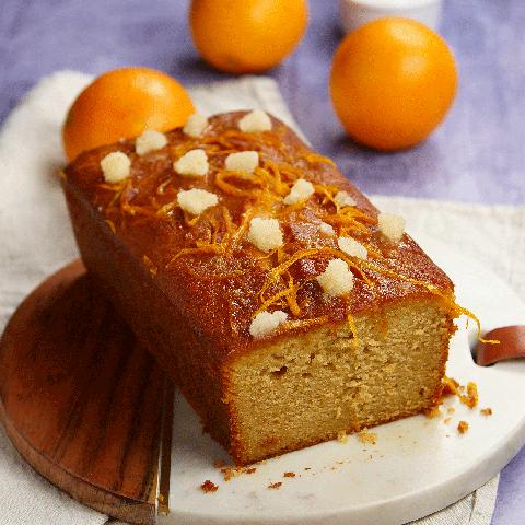 Blood orange gin and marmalade cake