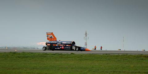 Bloodhound Supersonic Car test run
