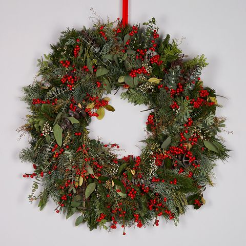 bloom winter berry christmas wreath