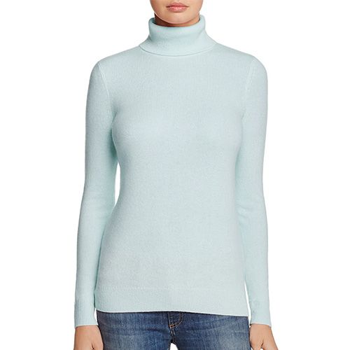 bloomingdales blue turtleneck