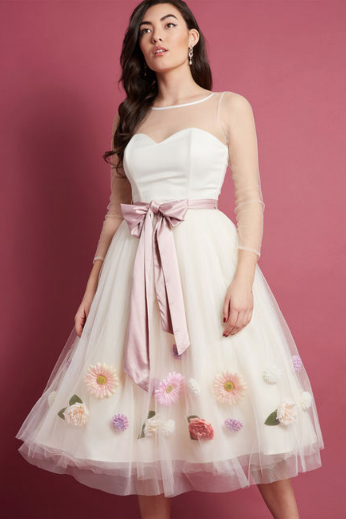 blossoms ivory dress
