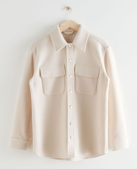 blouse shirt cremewit  other stories trend