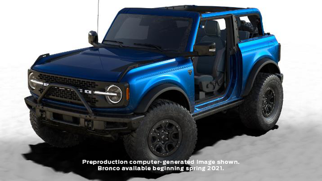 bronco first edition blue