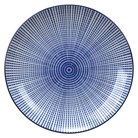 Blue and white wayfair plate