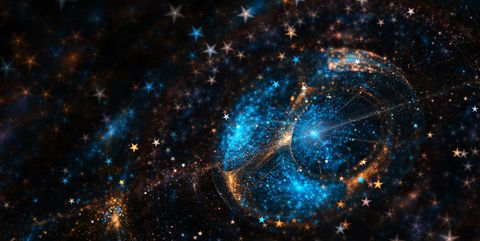 Blue and Yellow space stars