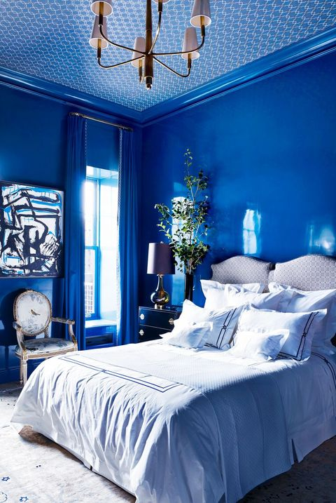 Gray Bedroom Paint Ideas: Decor Ideas For Light And Dark Blue Rooms