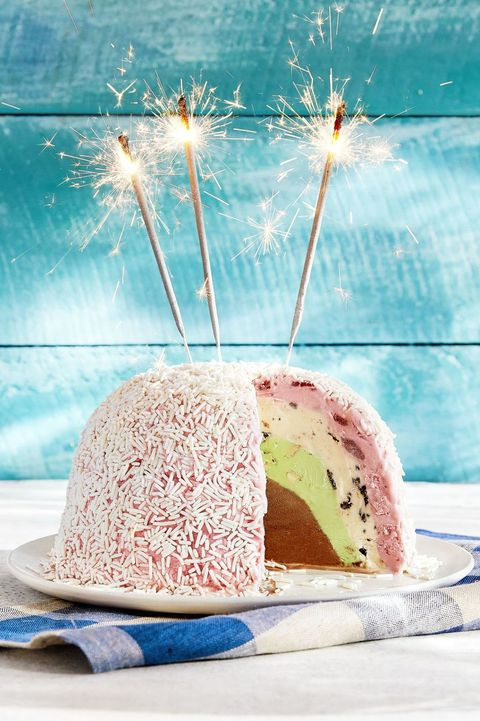 Father's Day Cakes - Blue Bell Ice Cream Bombe