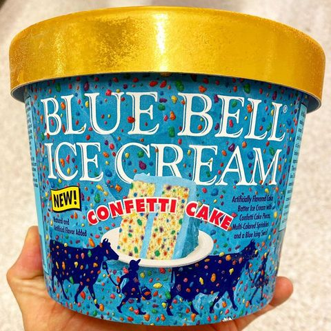 Fine Blue Bells New Confetti Cake Ice Cream Will Have You Scooping Personalised Birthday Cards Veneteletsinfo
