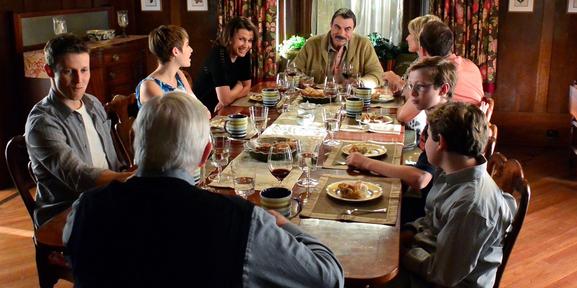 Blue Bloods' Star Bridget Moynahan on the Reagan Family Dinner Scene