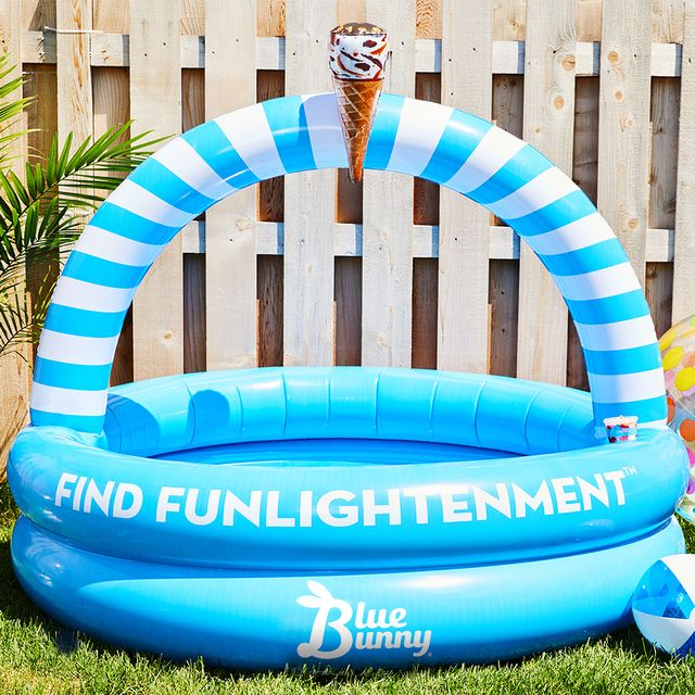 blue bunny ice cream personal inflatable pool